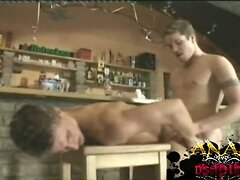 Anal and toy play in bar