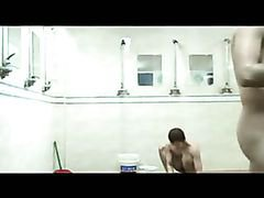Naked guys in the showers