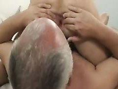 Oral and fingering with old man