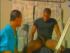 Black gay blowjob at photo shoot