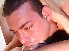 Deepthroating a nice big dick