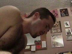 Gay anal in home office
