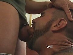 Gay leather group sex action