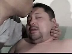 Chubby gay Asian daddy sex