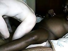 Huge black dick penetrates a tight white asshole