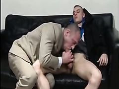 Lecherous gay daddy loves younger guys asses