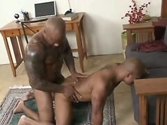 Hot black tattooed dudes in action