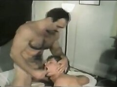 Vintage gay daddy gets a blowjob