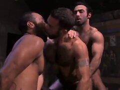 Hard body interracial orgy