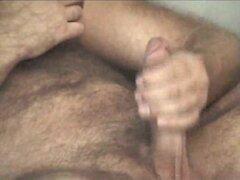 Mega hairy masturbating hottie
