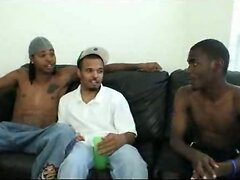 Young black guys gay threesome