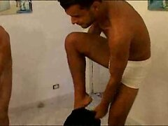 Smooth Latin twink double teamed