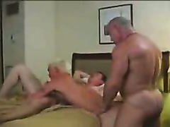 Hotel gangbang of a slutty bottom