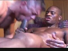 Sweaty interracial anal threesome
